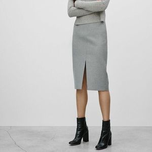 Aritzia Babaton Jax slit pencil skirt